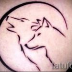 простые тату для начинающих - фото готовой татуировки 02092016 1196 tatufoto.ru