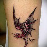 простые тату дракона - фото готовой татуировки 02092016 2211 tatufoto.ru