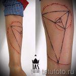 простые тату из линий - фото готовой татуировки 02092016 6238 tatufoto.ru