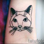 простые тату кошки - фото готовой татуировки 02092016 6246 tatufoto.ru