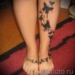 простые тату на икре - фото готовой татуировки 02092016 1255 tatufoto.ru