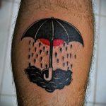 простые тату на икре - фото готовой татуировки 02092016 2256 tatufoto.ru