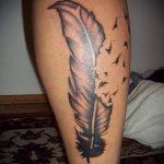 простые тату на икре - фото готовой татуировки 02092016 3257 tatufoto.ru