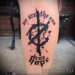 простые тату на икре - фото готовой татуировки 02092016 6260 tatufoto.ru