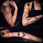 простые тату рукава - фото готовой татуировки 02092016 3319 tatufoto.ru