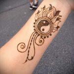 простые тату хной - фото пример готовой татуировки 02092016 5340 tatufoto.ru
