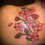 простые тату цветы - фото готовой татуировки 02092016 1343 tatufoto.ru