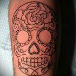 простые тату череп - фото готовой татуировки 02092016 1354 tatufoto.ru