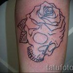 простые тату череп - фото готовой татуировки 02092016 2355 tatufoto.ru