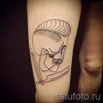 простые тату череп - фото готовой татуировки 02092016 5358 tatufoto.ru