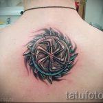 славянская свастика тату - фото готовой татуировки от 02092016 9067 tatufoto.ru