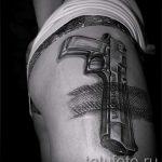 тату в виде пистолета - фото готовой татуировки 01092016 1070 tatufoto.ru