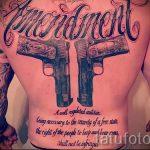 тату в виде пистолета - фото готовой татуировки 01092016 5074 tatufoto.ru