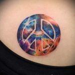 тату в стиле космос - фото готовой татуировки 4042 tatufoto.ru