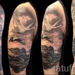 tatu-dva-lebedya-foto-primer-gotovoj-tatuirovki-5042-tatufoto-ru