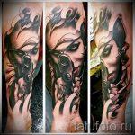 тату девочка с пистолетом - фото готовой татуировки 01092016 4078 tatufoto.ru