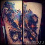 тату космос акварель - фото готовой татуировки 10101 tatufoto.ru