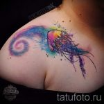 тату космос акварель - фото готовой татуировки 11102 tatufoto.ru