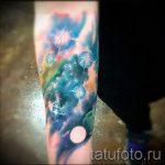 тату космос акварель - фото готовой татуировки 15106 tatufoto.ru