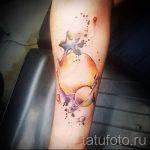 тату космос акварель - фото готовой татуировки 9100 tatufoto.ru