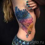 тату космос геометрия - фото готовой татуировки 4114 tatufoto.ru
