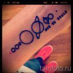 тату космос минимализм - фото готовой татуировки 14129 tatufoto.ru