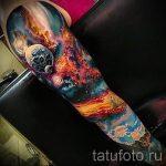 тату космос рукав - фото готовой татуировки 1141 tatufoto.ru