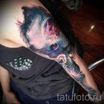 тату космос рукав - фото готовой татуировки 24164 tatufoto.ru