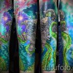 тату космос рукав - фото готовой татуировки 29169 tatufoto.ru