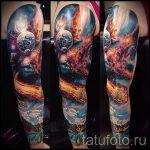 тату космос рукав - фото готовой татуировки 3143 tatufoto.ru