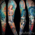 тату космос рукав - фото готовой татуировки 42183 tatufoto.ru
