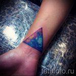 тату космос треугольник - фото готовой татуировки 22210 tatufoto.ru