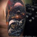 тату космос - фото готовой татуировки 10055 tatufoto.ru