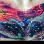тату космос - фото готовой татуировки 12056 tatufoto.ru