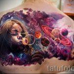 тату космос - фото готовой татуировки 13057 tatufoto.ru