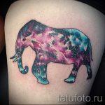 тату космос - фото готовой татуировки 16060 tatufoto.ru