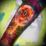 тату космос - фото готовой татуировки 20064 tatufoto.ru