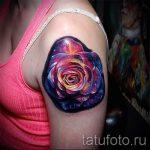 тату космос - фото готовой татуировки 22066 tatufoto.ru