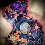 тату космос - фото готовой татуировки 27071 tatufoto.ru