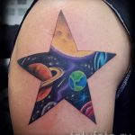 тату космос - фото готовой татуировки 28072 tatufoto.ru