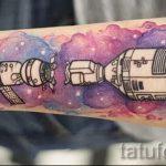 тату космос - фото готовой татуировки 3048 tatufoto.ru