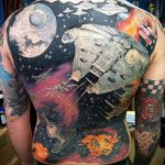 тату космос - фото готовой татуировки 36080 tatufoto.ru