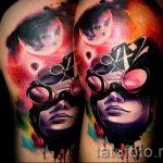 тату космос - фото готовой татуировки 37081 tatufoto.ru