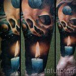 тату космос - фото готовой татуировки 4049 tatufoto.ru