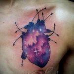 тату космос - фото готовой татуировки 9054 tatufoto.ru