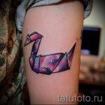 tatu-lebed-origami-foto-primer-gotovoj-tatuirovki-4121-tatufoto-ru