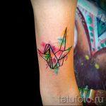 tatu-lebed-origami-foto-primer-gotovoj-tatuirovki-6123-tatufoto-ru