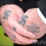 тату немецкая свастика - фото готовой татуировки от 02092016 6068 tatufoto.ru
