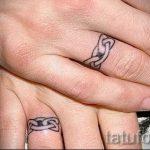 тату обручальные кольца фото - варианты татуировок вместо обручальных колец 1