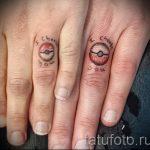 тату обручальные кольца фото - варианты татуировок вместо обручальных колец 20